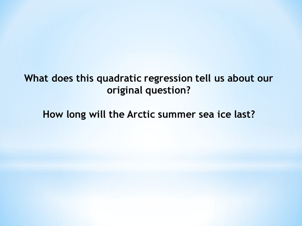 How long will the Arctic summer sea ice last