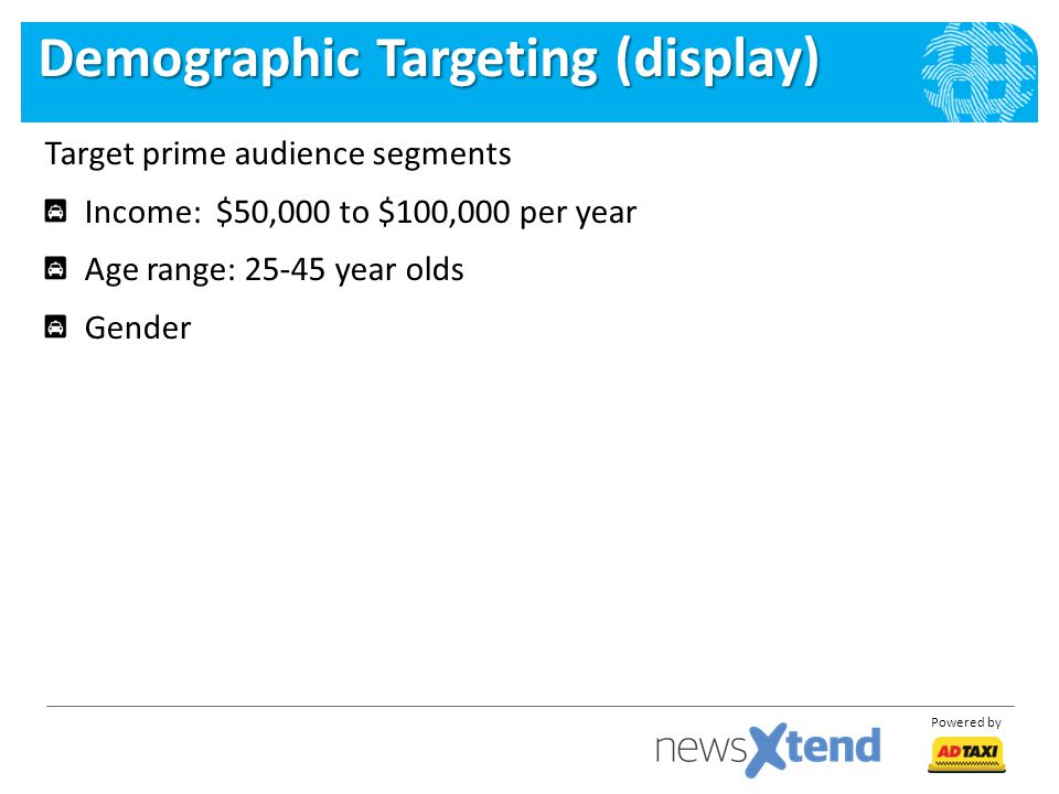 Demographic Targeting (display)