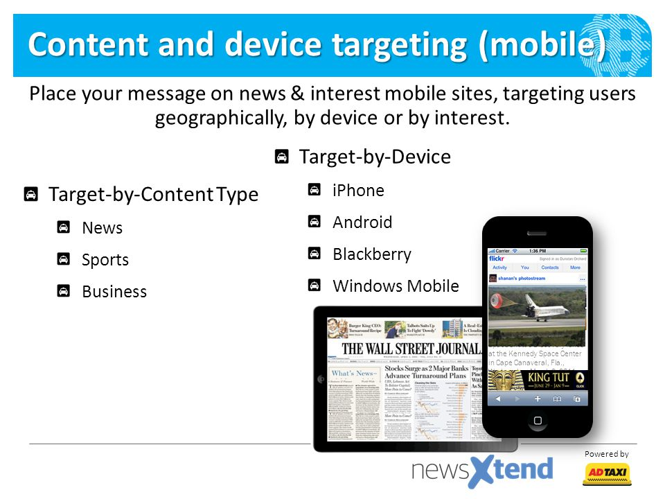 Content and device targeting (mobile)
