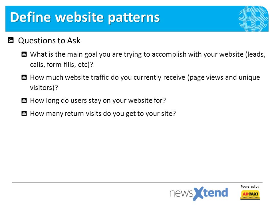 Define website patterns