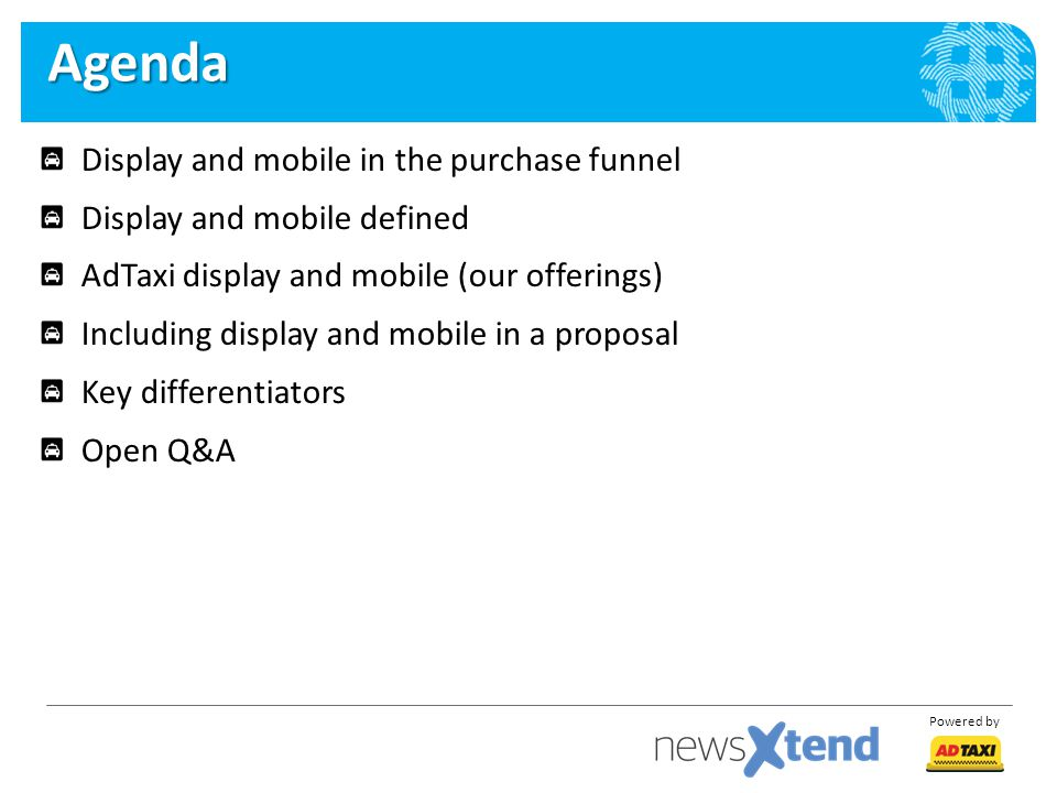 Agenda Display and mobile in the purchase funnel
