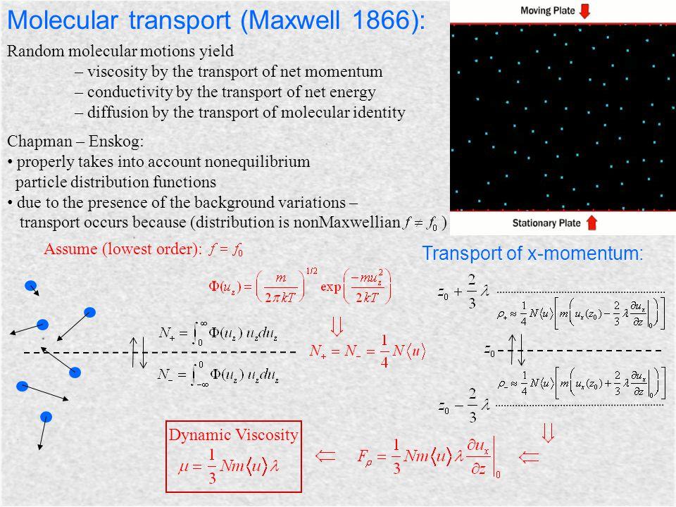 Molecular transport (Maxwell 1866):