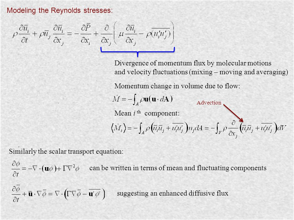 Modeling the Reynolds stresses: