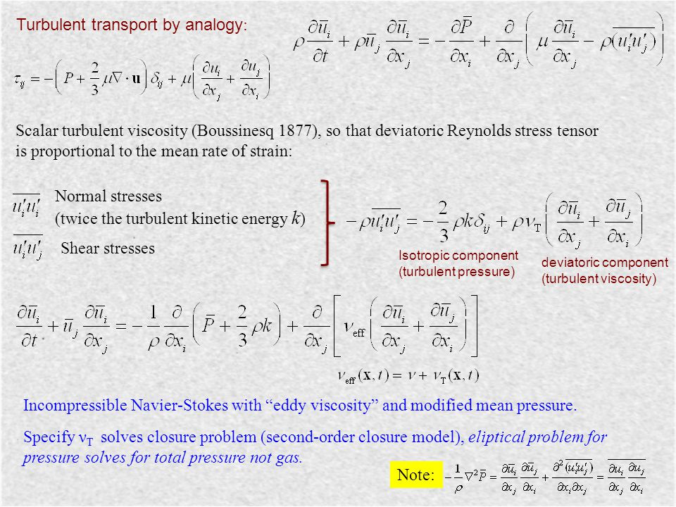 Turbulent transport by analogy: