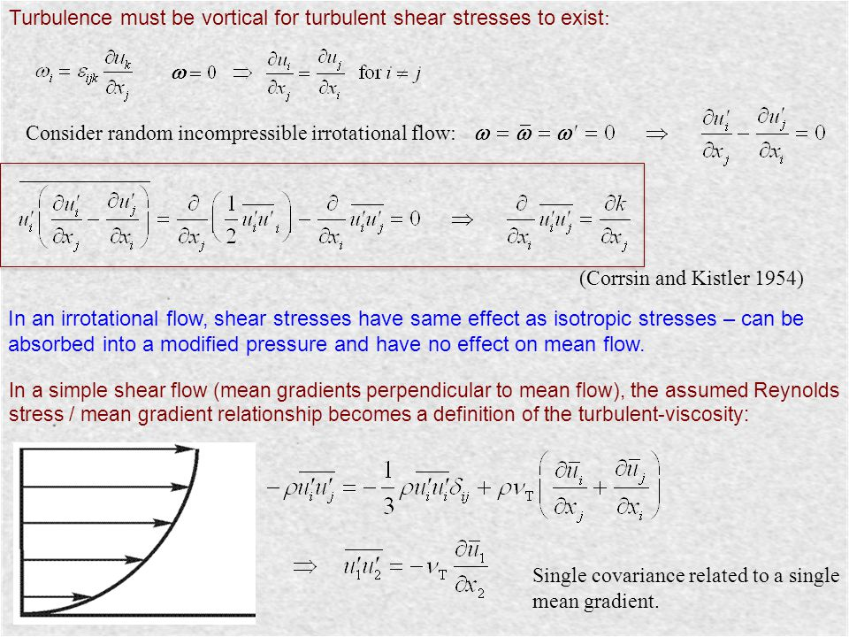 Turbulence must be vortical for turbulent shear stresses to exist: