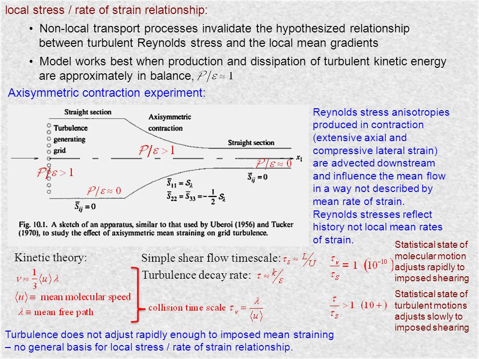 local stress / rate of strain relationship:
