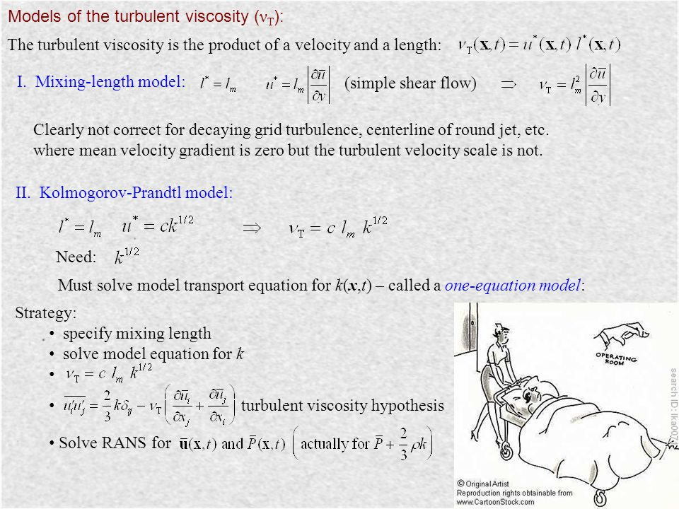 Models of the turbulent viscosity (νT):