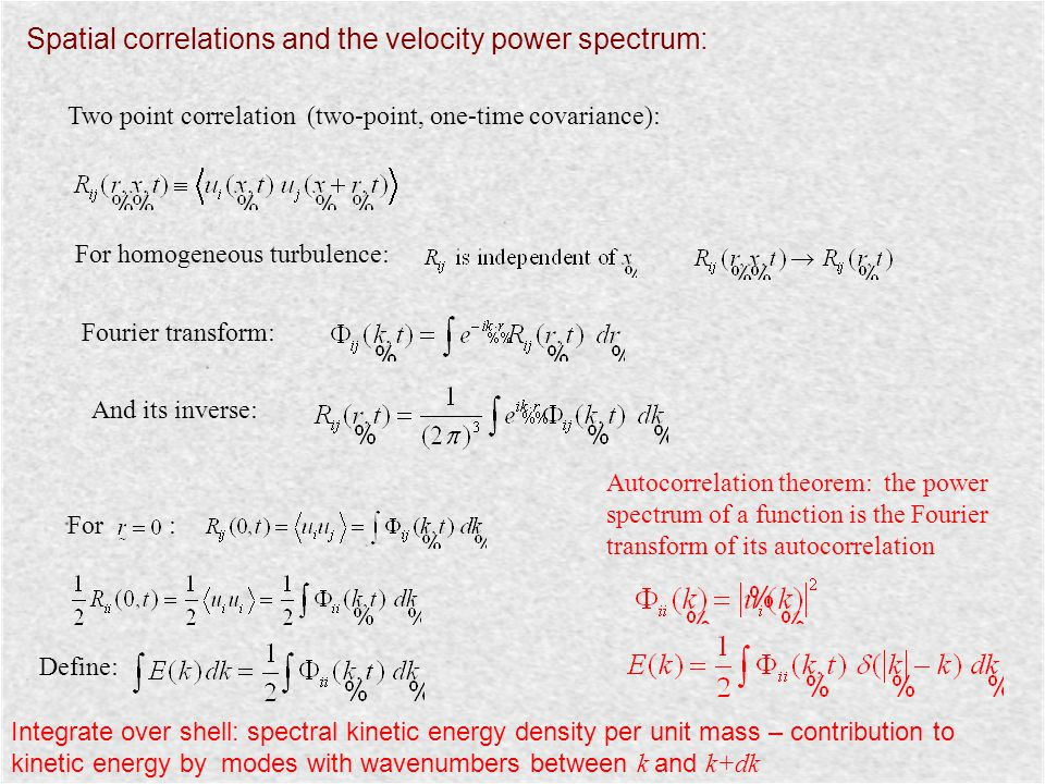 Spatial correlations and the velocity power spectrum: