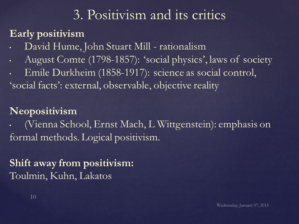 3. Positivism and its critics