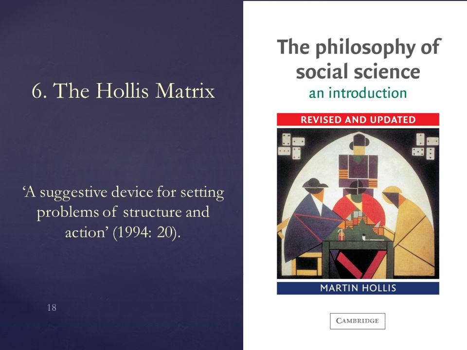 6. The Hollis Matrix 'A suggestive device for setting problems of structure and action' (1994: 20).