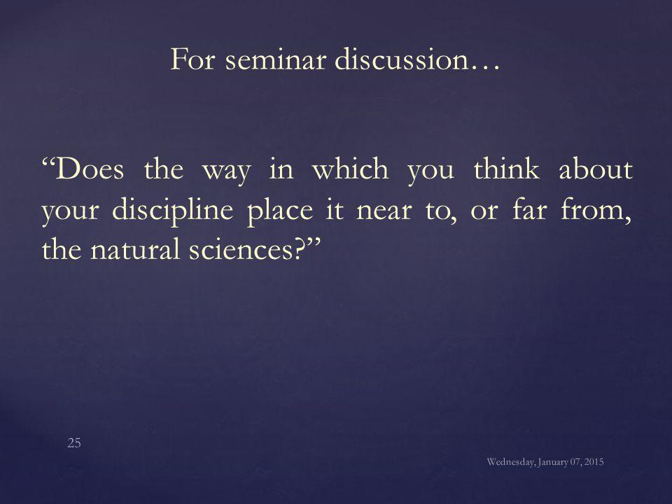 For seminar discussion…