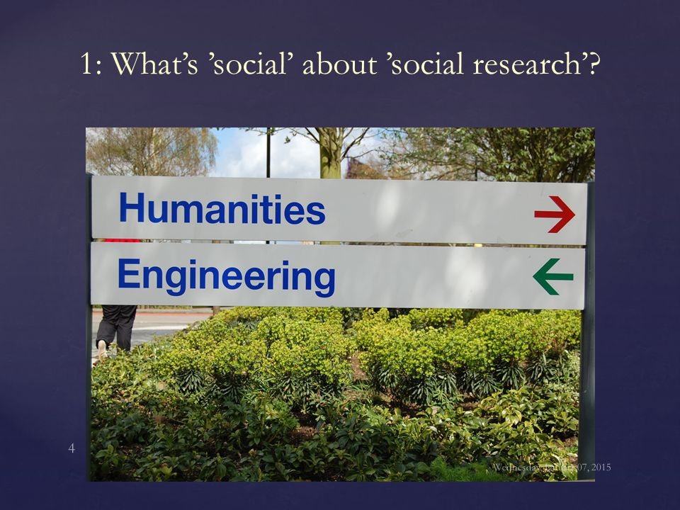 1: What's 'social' about 'social research'