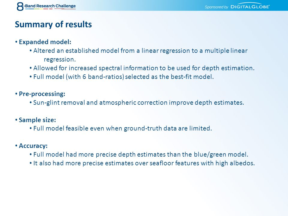 Summary of results Expanded model: