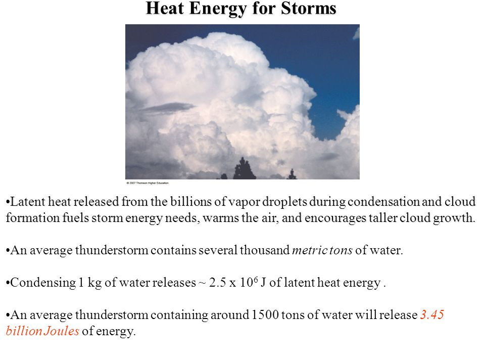 Heat Energy for Storms