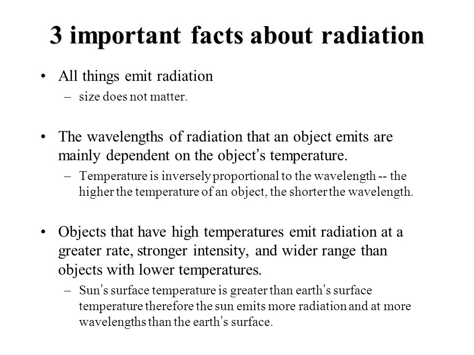 3 important facts about radiation