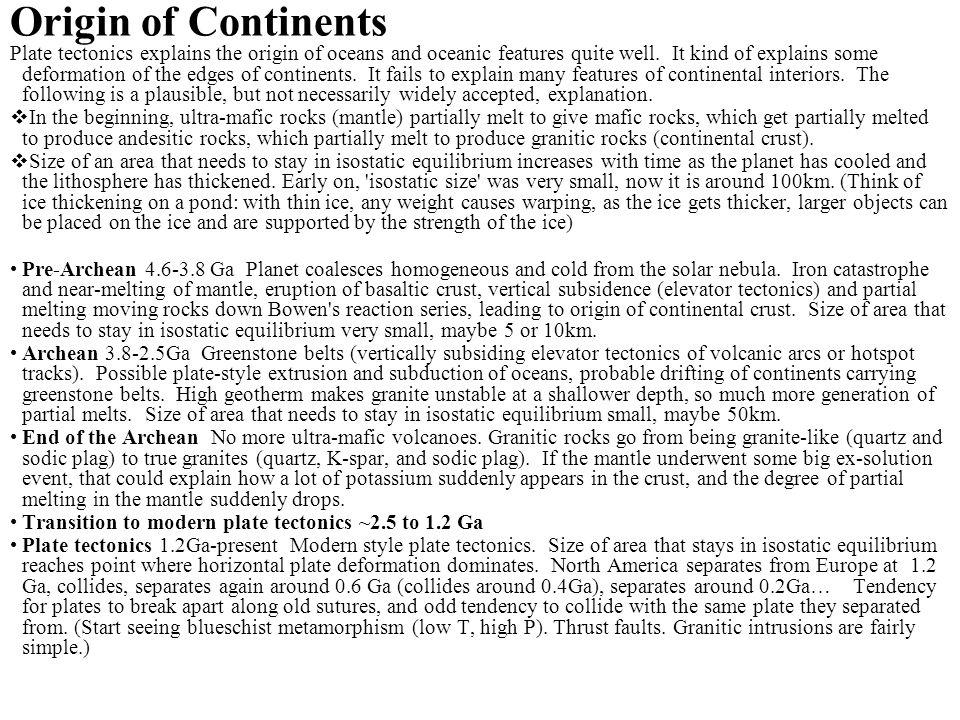 Origin of Continents