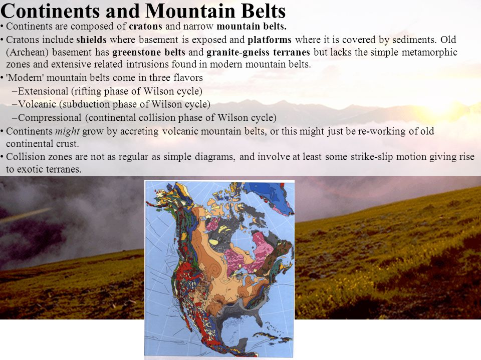 Continents and Mountain Belts