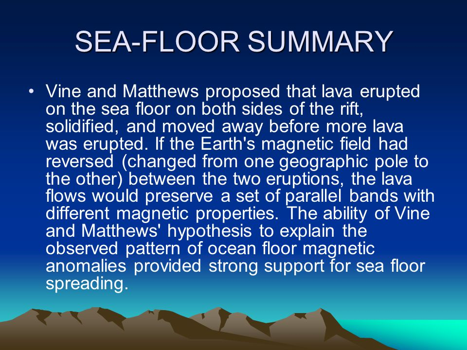 SEA-FLOOR SUMMARY