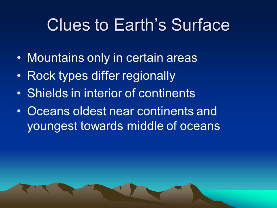 Clues to Earth's Surface