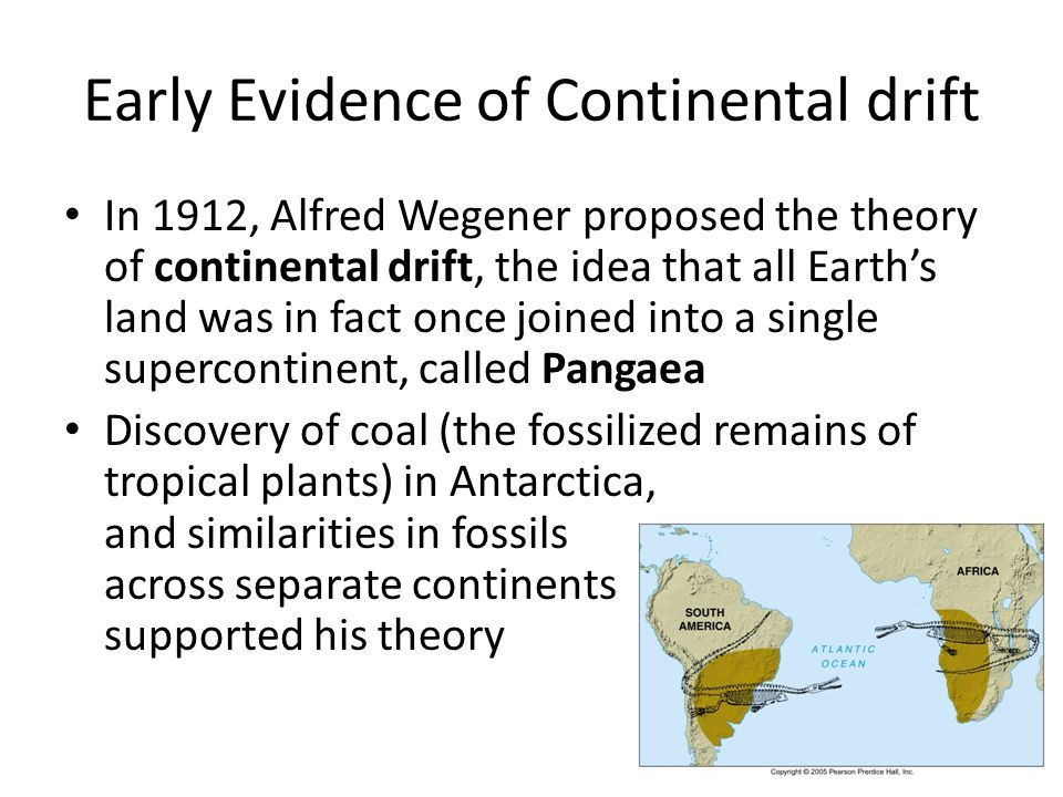 Early Evidence of Continental drift