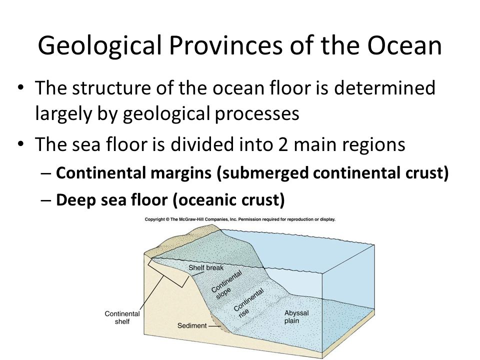 Geological Provinces of the Ocean