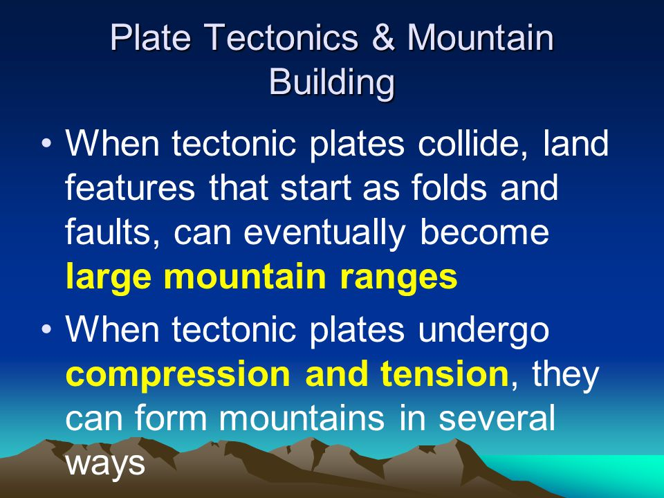 Plate Tectonics & Mountain Building