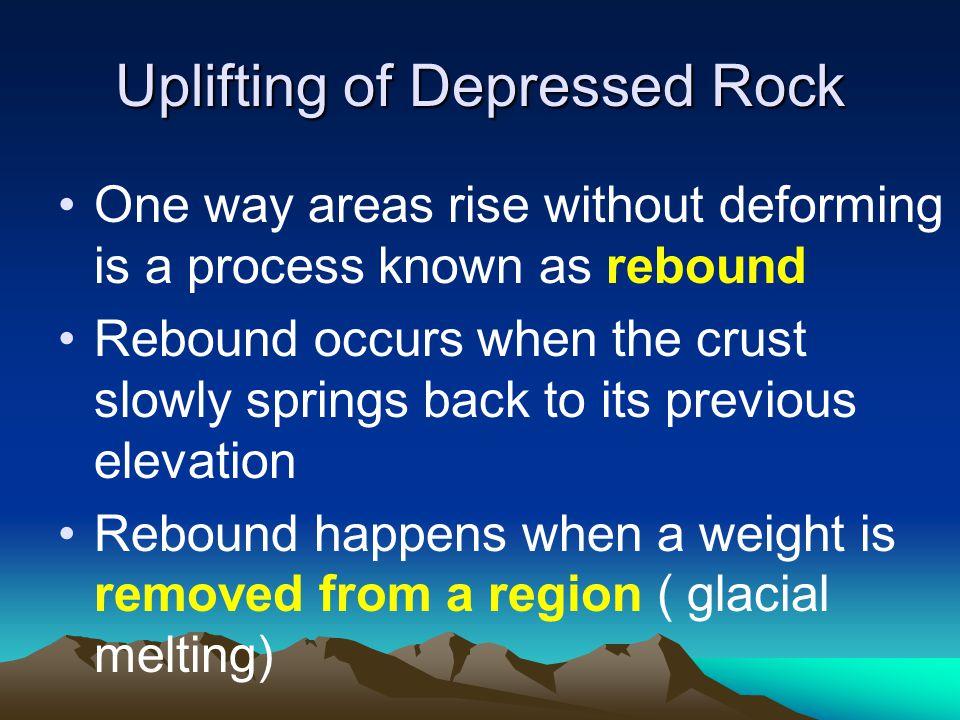 Uplifting of Depressed Rock