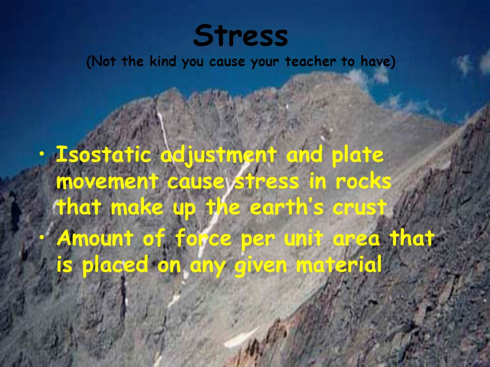 Stress (Not the kind you cause your teacher to have)