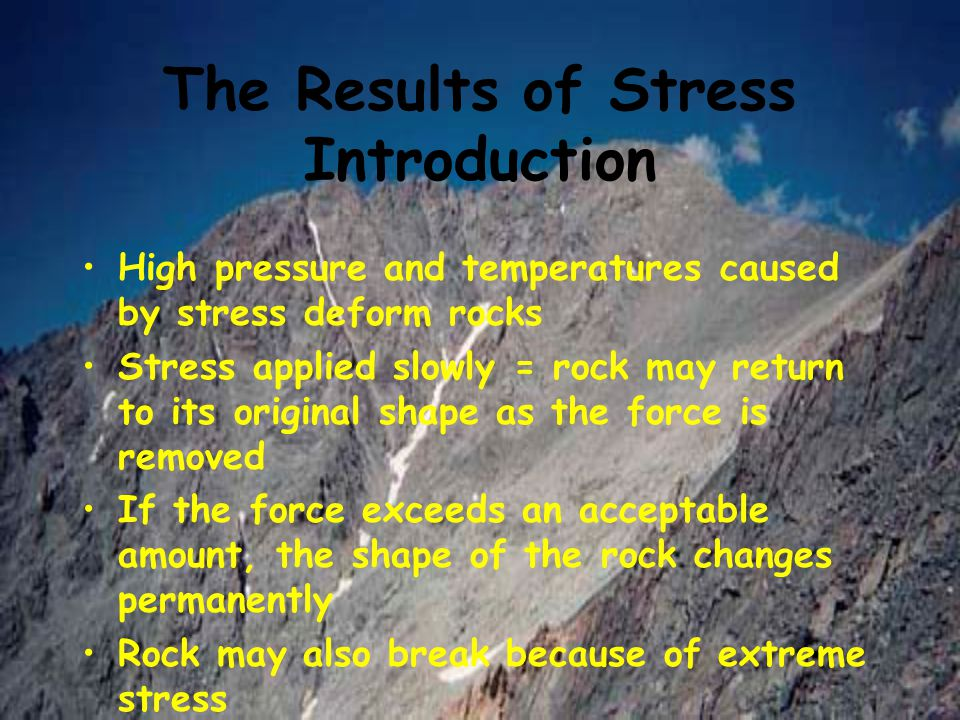 The Results of Stress Introduction