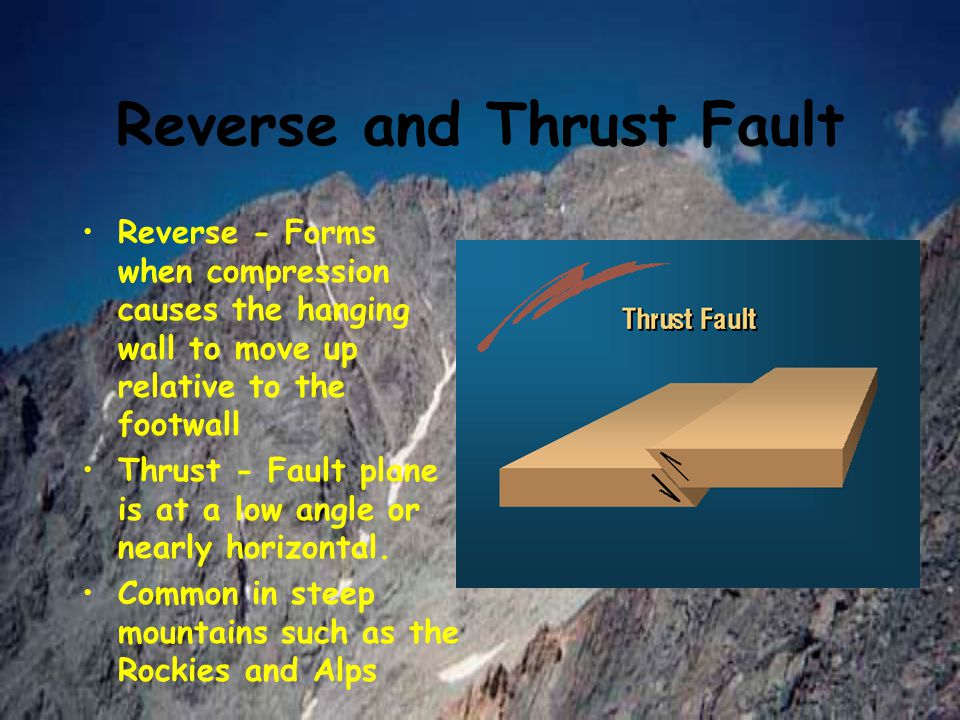 Reverse and Thrust Fault