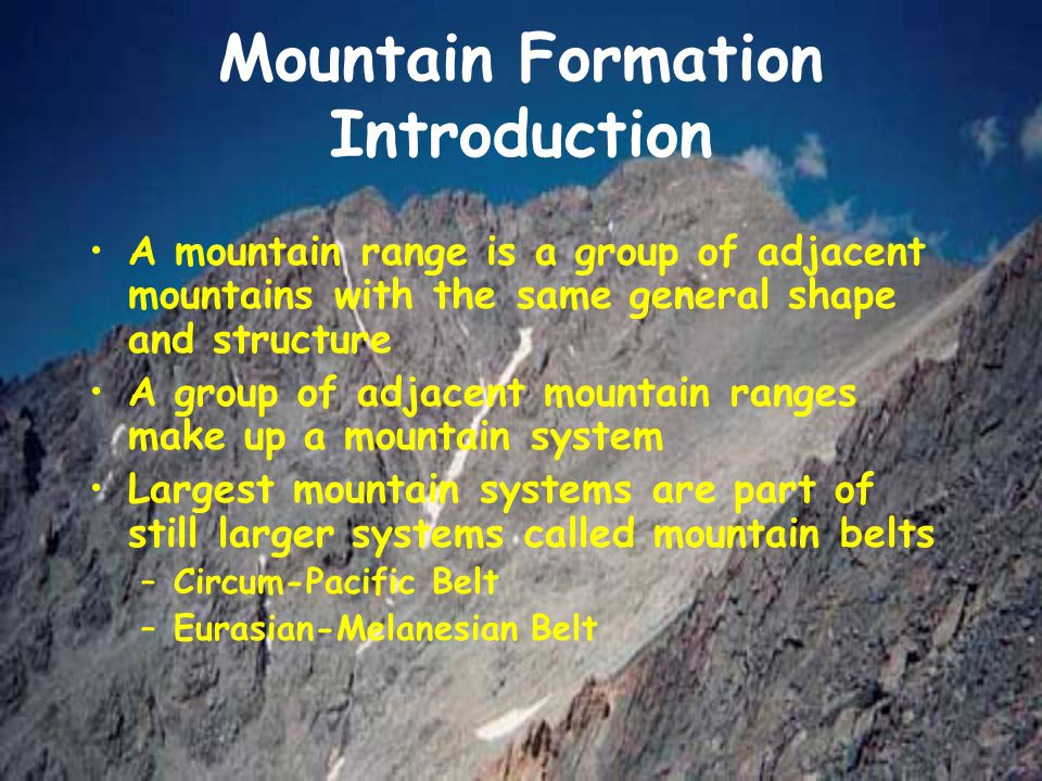 Mountain Formation Introduction