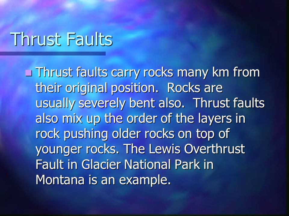 Thrust Faults
