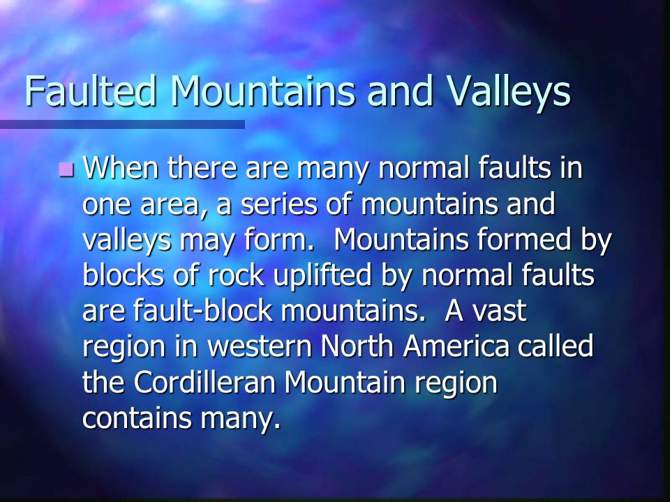 Faulted Mountains and Valleys