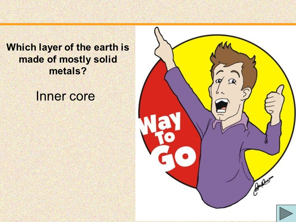 Which layer of the earth is made of mostly solid metals
