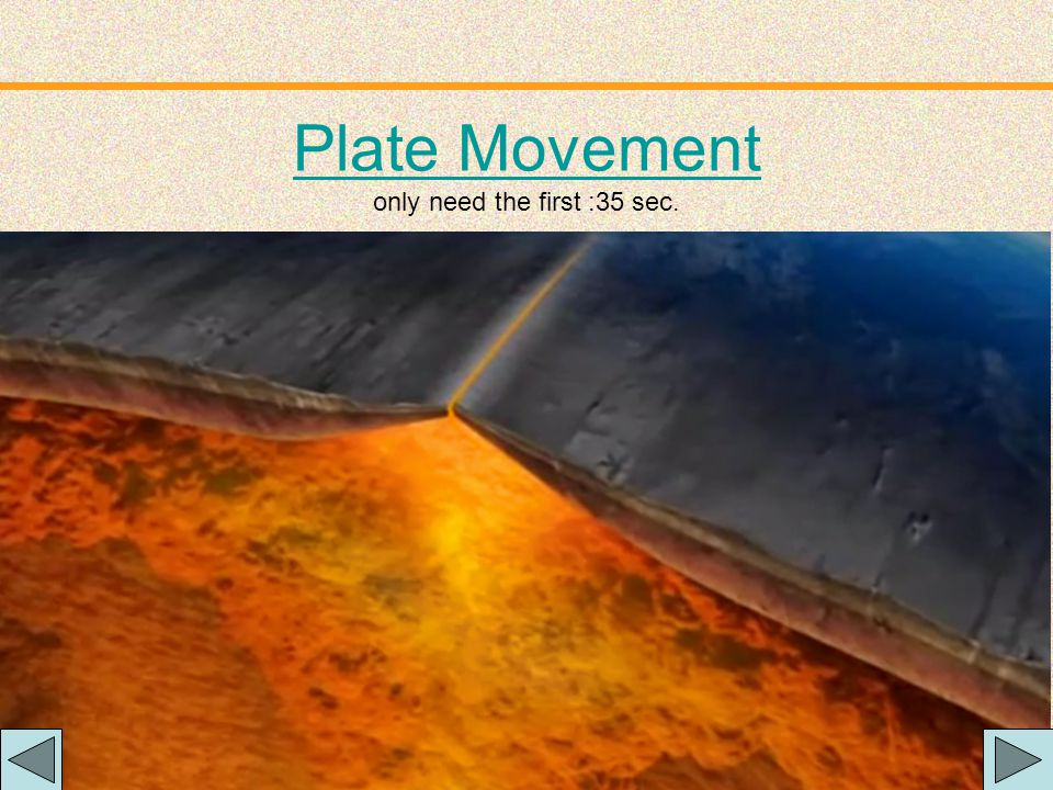 Plate Movement only need the first :35 sec.