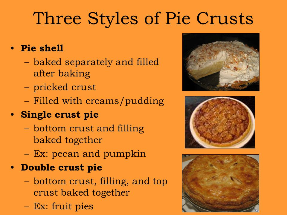 Three Styles of Pie Crusts