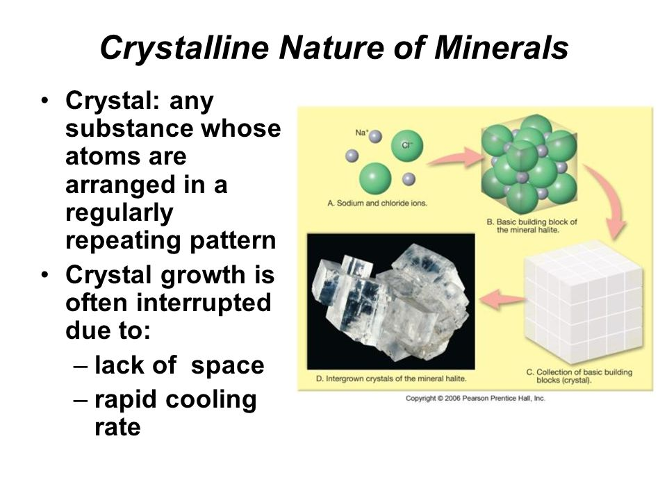 Crystalline Nature of Minerals