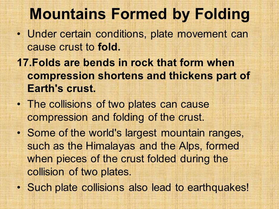 Mountains Formed by Folding