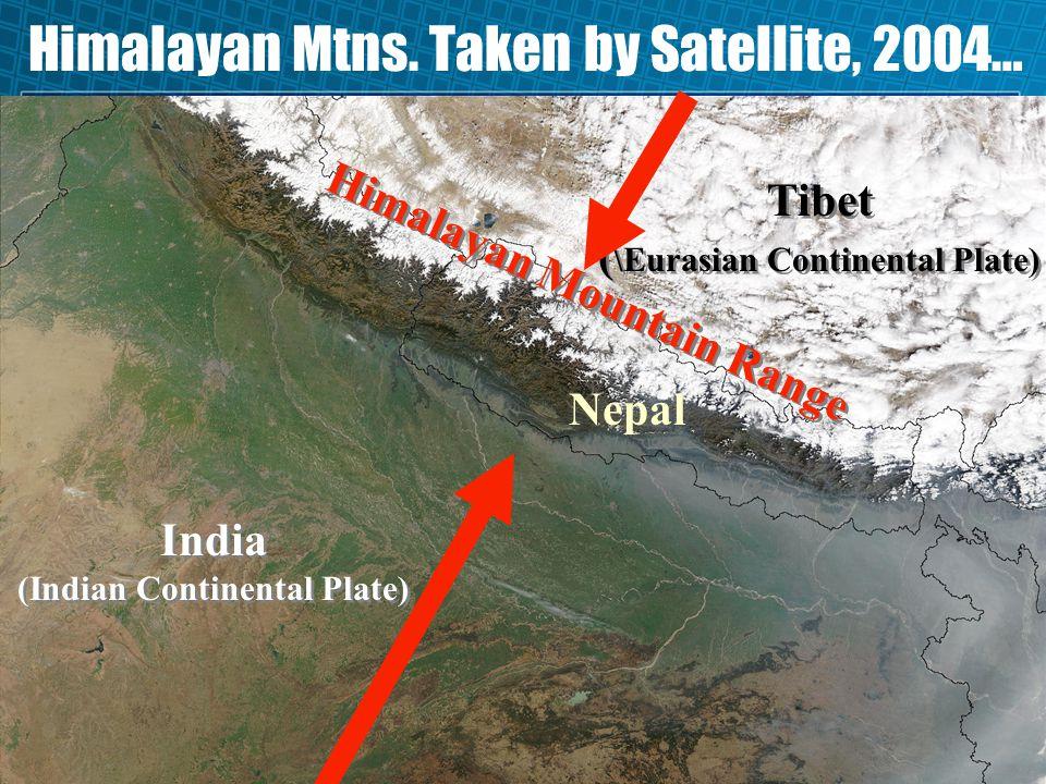 Himalayan Mtns. Taken by Satellite, 2004…