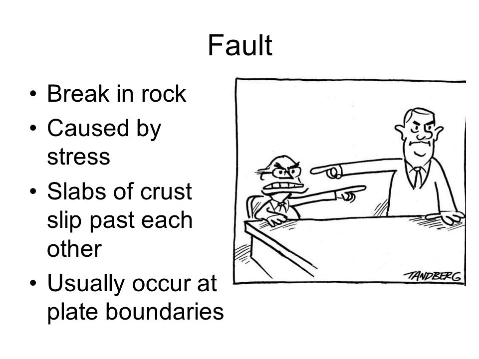 Fault Break in rock Caused by stress