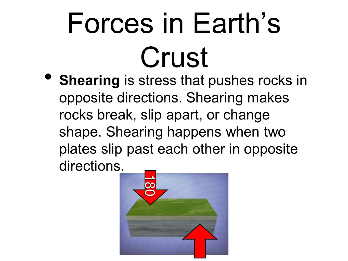 Forces in Earth's Crust