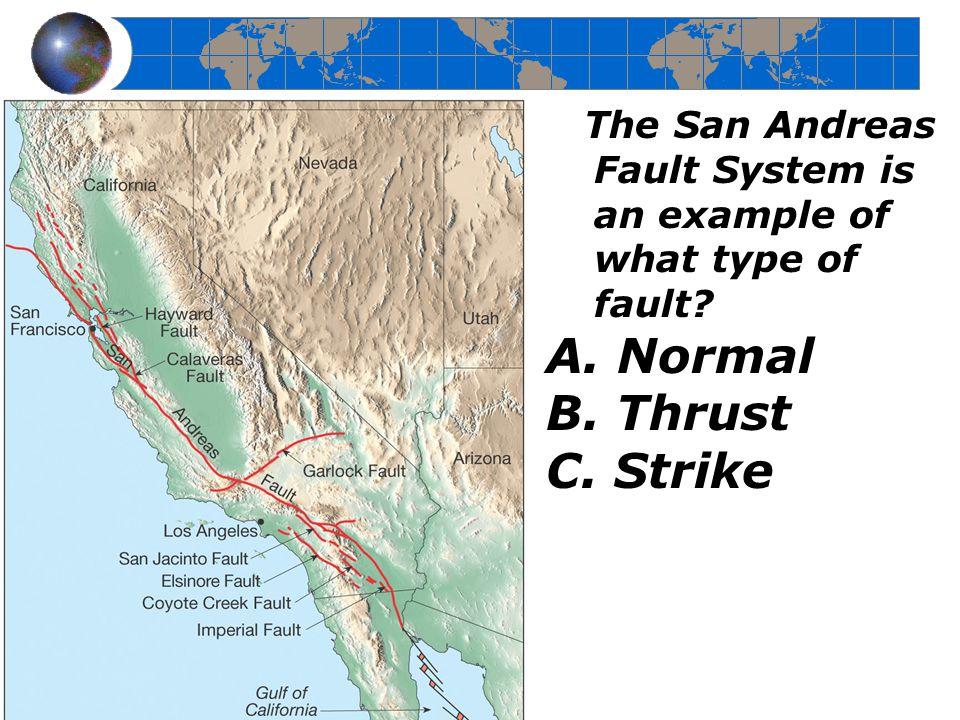A. Normal B. Thrust C. Strike