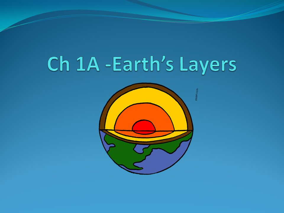 Ch 1A -Earth's Layers