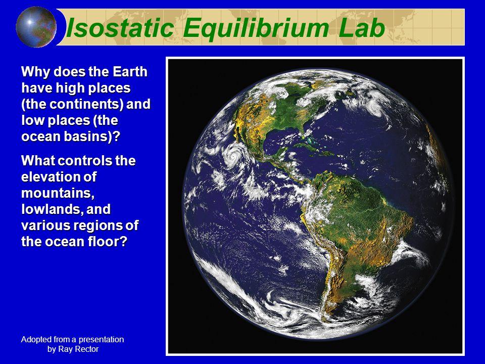 Isostatic Equilibrium Lab