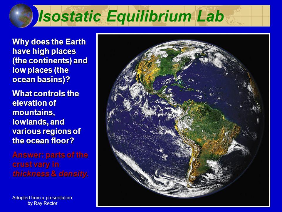 Ocean Floor Elevation : Isostatic equilibrium lab ppt download