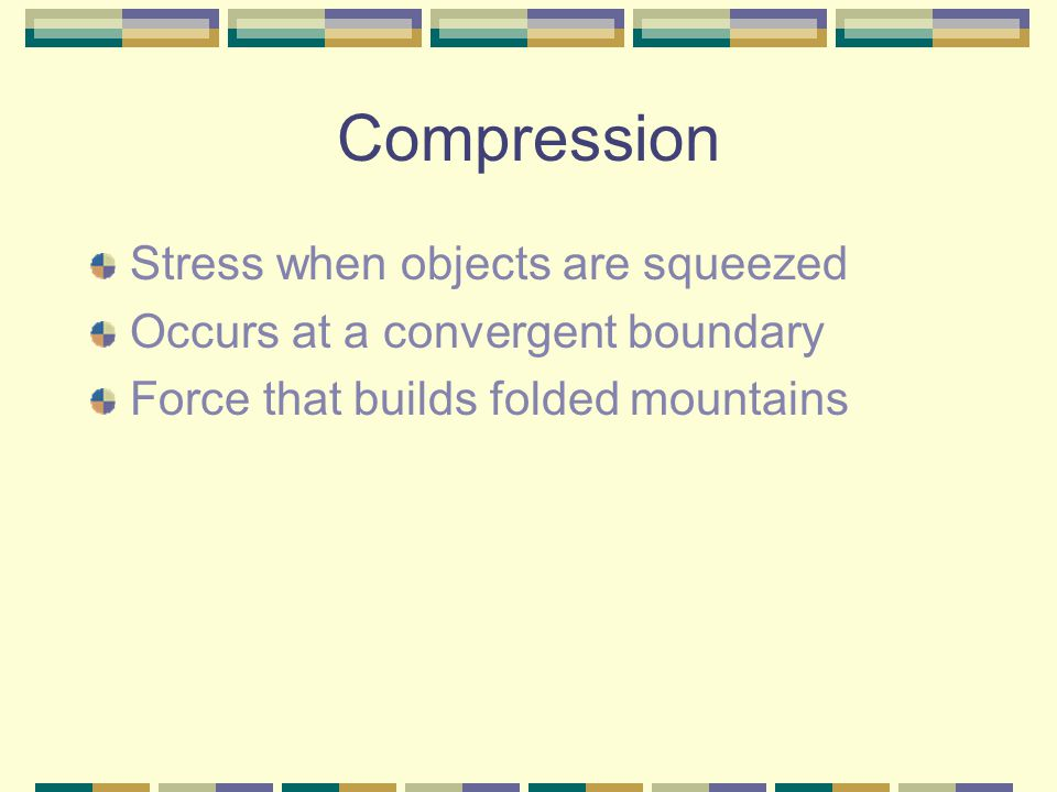 Compression Stress when objects are squeezed
