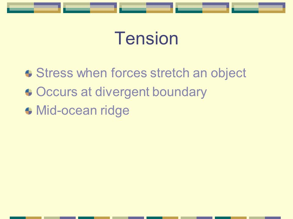 Tension Stress when forces stretch an object