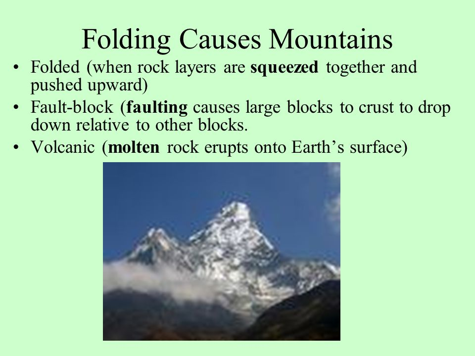 Folding Causes Mountains