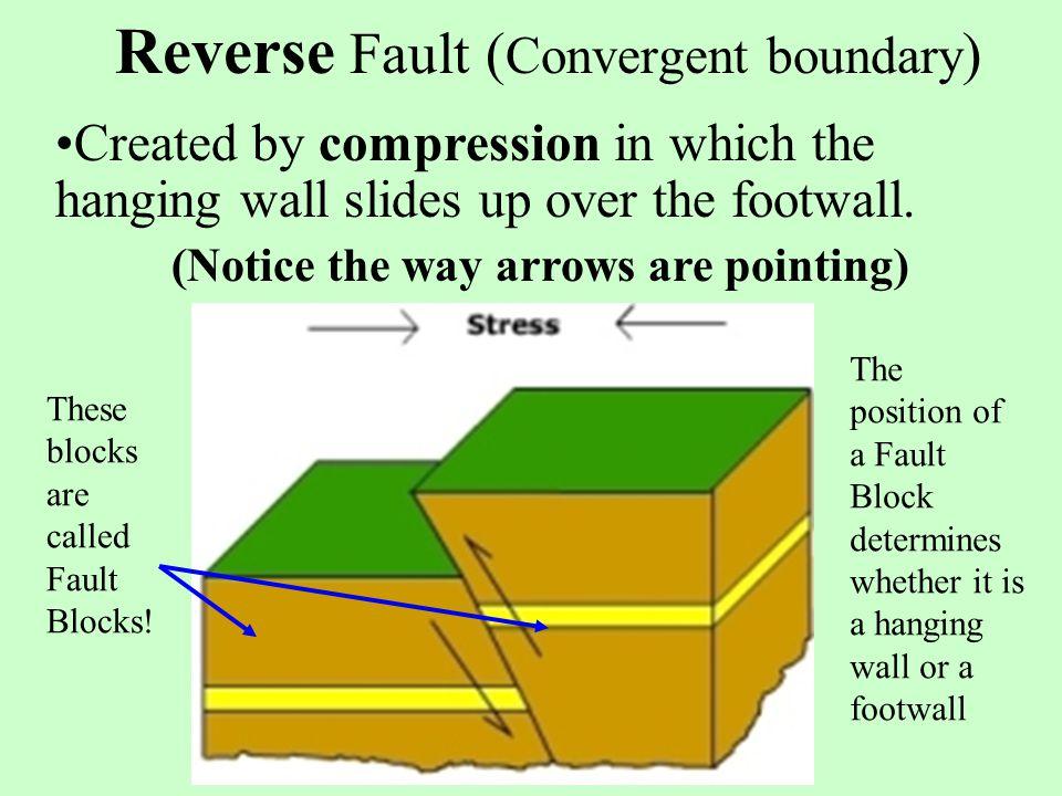 Reverse Fault (Convergent boundary)