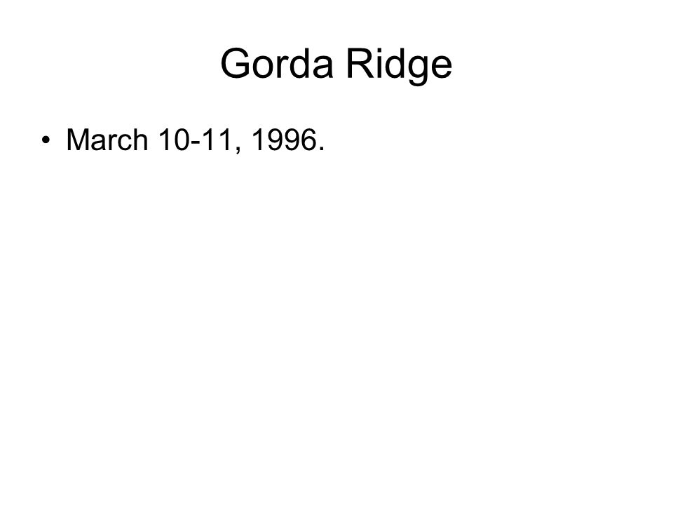Gorda Ridge March 10-11, 1996.